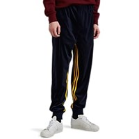 Adidas Striped Colorblocked Velour Jogger Pants Navy