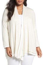 Three Dots Plus Size Women's Reversible Open Front Cardigan