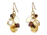 Lauren Ralph Lauren Sandy Cay French Wire Multi Bead Cluster Drop Earrings Dark Multi Matte Gold Earring