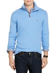Polo Ralph Lauren Ribbed Cotton Pullover Blue