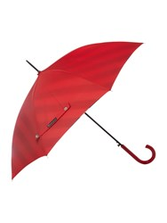 Lulu Guinness Bloomsbury Umbrella With Diagonal Stripe Lining Red