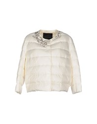 Ermanno Scervino Coats And Jackets Down Jackets Women White
