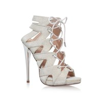 Kurt Geiger Hoxton High Heel Lace Up Sandals Gold