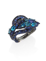 Gucci Le Marche Des Merveilles Blue Topaz Sapphire And 18K White Gold Ring