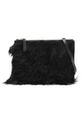 Atp Atelier Lucca Shearling Shoulder Bag Black