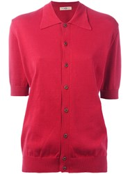 Romeo Gigli Vintage Polo Top Red