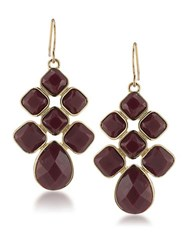 1St And Gorgeous Garnet Cabachon Chandelier Earrings Gold