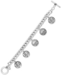 Lucky Brand Silver Tone Coin Charm Bracelet