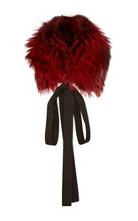 J. Mendel Ombre Fox Fur Stole Red
