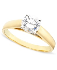 Macy's Diamond Engagement Ring In 14K Gold 1 Ct. T.W.