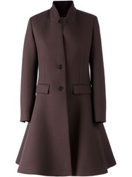 Neil Barrett Flared Overcoat Brown