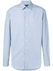 Emporio Armani Casual Dotted Shirt Blue