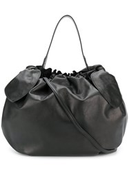 Simone Rocha Gathered Bow Tote Bag Black