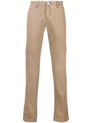 Jacob Cohen Bobby Straight Leg Trousers Nude And Neutrals