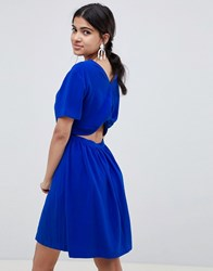 Suncoo Open Back Skater Dress Bleu Klein Blue