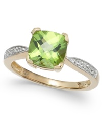 Macy's Peridot 2 1 5 Ct. T.W. And Diamond Accent Ring In 14K Gold