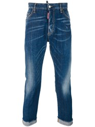 Dsquared2 Cropped Jeans Blue
