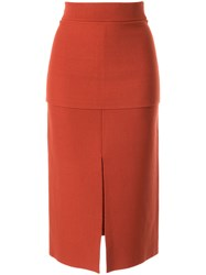 Camilla And Marc Chandler Knitted Skirt Brown