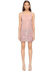 Alberta Ferretti Beaded And Sequined Tulle Dress Pink