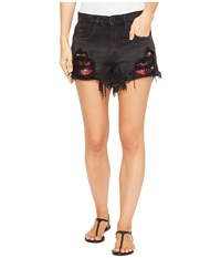 Blank Nyc Novelty Shorts With Detailed Patchwork In Rock Steady Rock Steady Women's Shorts Gray
