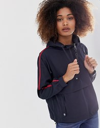 Only Anorak With Sports Tape Navy
