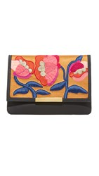 Lizzie Fortunato Blossom Clutch With Strap Black Multi