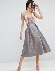 Asos Occasion Prom Skirt In Pastel Floral Floral Multi