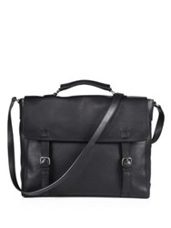 Giorgio Armani Leather Briefcase Black