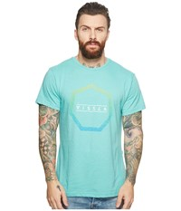 Vissla Sun Bar T Shirt Top Jade Heather T Shirt Blue
