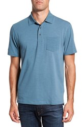 Tailor Vintage Men's Stretch Slub Jersey Polo Teal