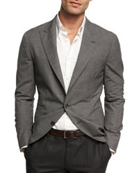 Brunello Cucinelli Wool Deconstructed Jacket Gray