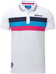 Bunker Mentality Triple Stripe Polo White