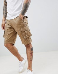 Selected Homme Cargo Shorts Beige