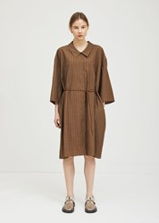 Ter Et Bantine Wool Striped Dress Brown