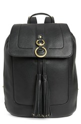 Cole Haan Cassidy Rfid Pebbled Leather Backpack Black