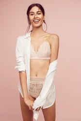 Anthropologie Floreat Mellow Lace High Waisted Briefs Pink
