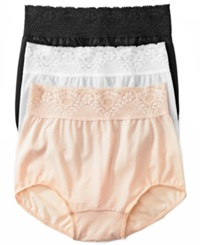 Bali Lacy Skimp Skamp Brief 2744 Black
