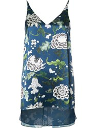 Adam By Adam Lippes Floral Print Camisole Top Blue