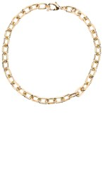 Joolz By Martha Calvo Celine Choker In Metallic Gold.
