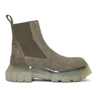 Rick Owens Grey Bozo Tractor Beatle Chelsea Boots