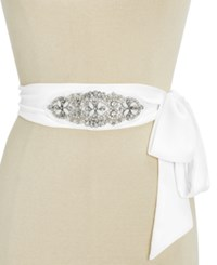 Inc International Concepts Embellished Wide Sash Belt Only At Macy's White