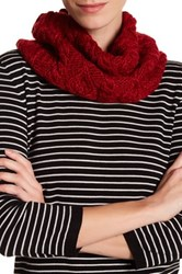 Joe Fresh Cable Knit Snood Red