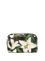 Dolce And Gabbana Lilium Print Cosmetics Case Black Multi