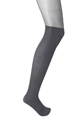 Forever 21 Knee High Ribbed Tights Charcoal Black