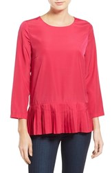 Women's Kensie Pleat Hem Woven Top