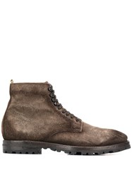 Officine Creative Aspen Lace Up Ankle Boots 60