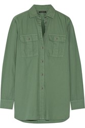 J.Crew Cotton Shirt Army Green