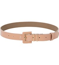 Lk Bennett Gena Patent Leather Belt Nat Fawn