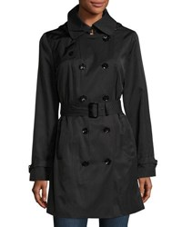 Michael Michael Kors Water Resistant Double Breasted Trench Coat Black