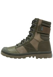 Palladium Pampa Nue Tactic Laceup Boots Army Green Dark Olive Khaki